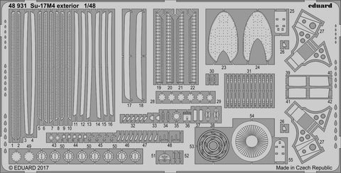 Eduard 1/48 Photoetched Su-17M4 exterior for HobbyBoss kit - 48931