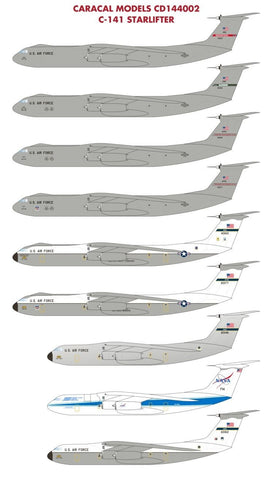 Caracal Models 1/144 decal C-141 Starlifter for Roden Kit - CD144002