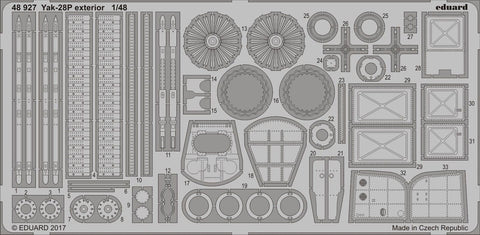 Eduard 1/48 PhotoEtch exterior detail for Yak-28P for BOBCAT MODELS - 48927