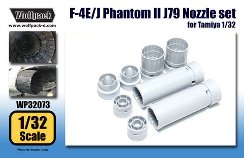 Wolfpack 1/32 scale F-4E/J Phantom II J79 Engine Nozzle set for Tamiya - WP32073