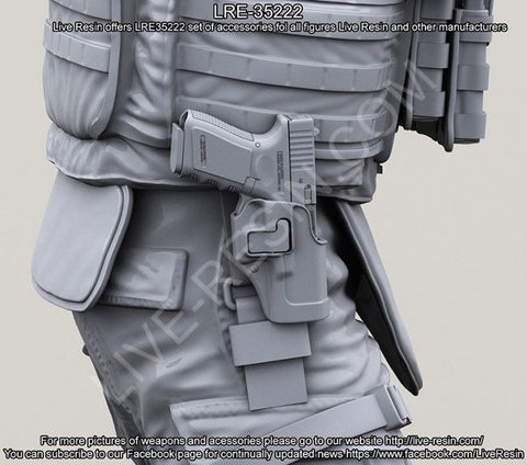 Live Resin 1:35 G-19 BlackHawk CQC Serpa Holster - LRE35222