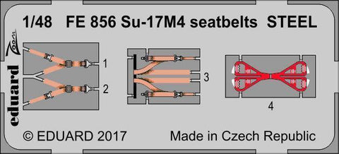 Eduard 1/48 Zoom Photoetched Su-17M4 seatbelts STEEL for HobbyBoss - FE856