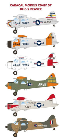 Caracal Models 1/48 scale decal DHC-2 Beaver for Hobbycraft Kit - CD48107