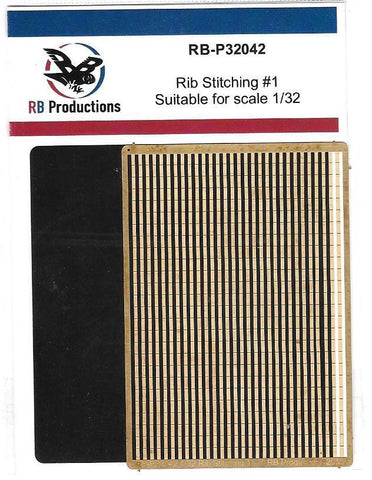 RB Productions 1/32 Photoetched Rib Stitching Strips #1 - RB-P32042