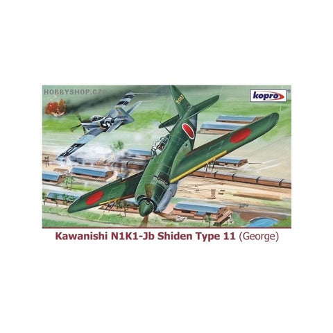 Kopro models kit 1/72 KAWANISHI N1K1-JB SHIDEN TYPE 11 - 74150 from collection