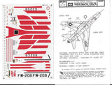 MicroScale 1/48 decal F-100 Super Sabres 48-78 from collection