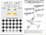 MicroScale 1/48 decal Messerschmitt Bf 109 F/G - 48-20 from collection