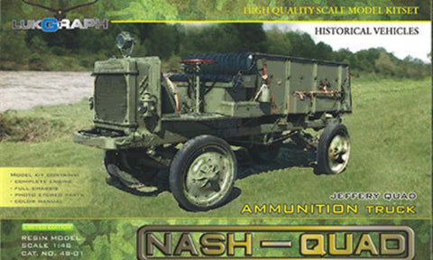 Lukgraph 1/48 WWI Jeffery Quad or Nash-Quad Ammunition truck 1913-16 #48-01