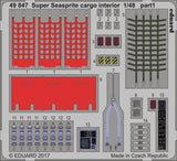 Eduard 1/48 Color PhotoEtch Super Seasprite cargo interior for KittyHawk - 49847