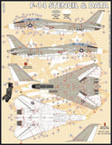 Furball Decal 1/48 F-14 Stencils & Data - 48059
