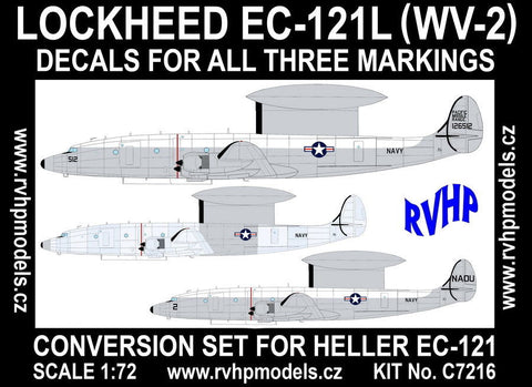 RVHP Models 1/72 Lockheed EC-121L (WV-2) conversion for Heller - C7216