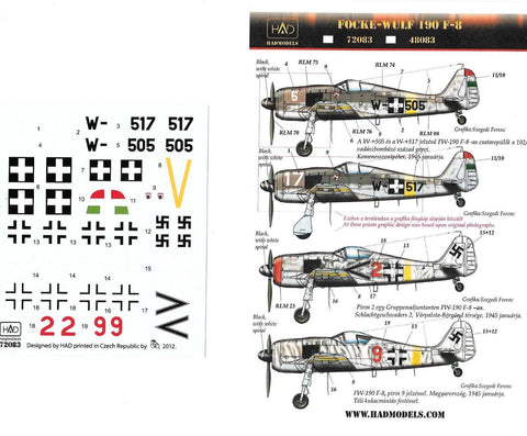 HAD Models decals 1/72 Focke-Wulf Fw-190F-8 - #72083