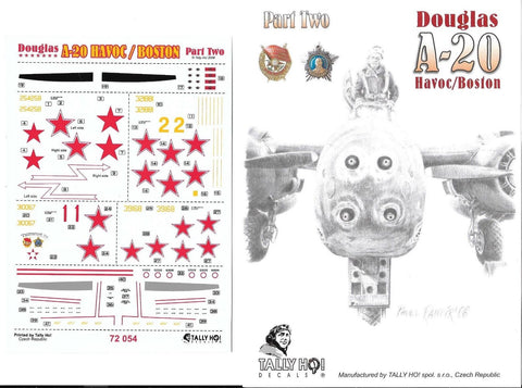 TALLY HO! Decals 1/72  Douglas A-20 Havoc/ Boston part.2 - #72054