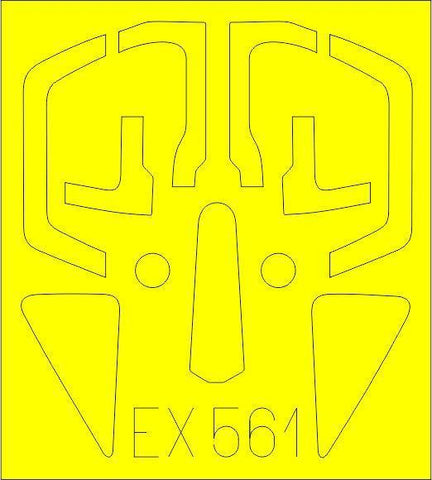 Eduard 1/48 Scale Mask for Su-17M4 by Hobby Boss - EX561