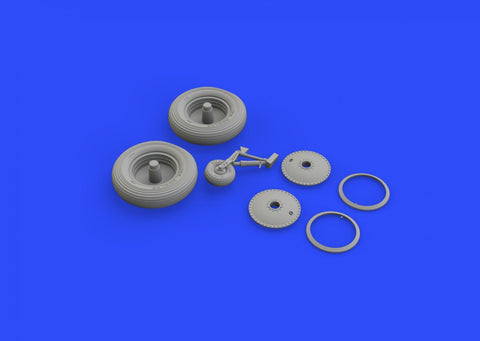 Eduard 1/48 Brassin undercarriage wheels for Walrus Mk.I for Airfix - 648343