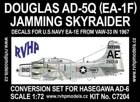 RVHP Models 1/72 Douglas AD-5Q (EA-1F) Skyraider conversion for HSG