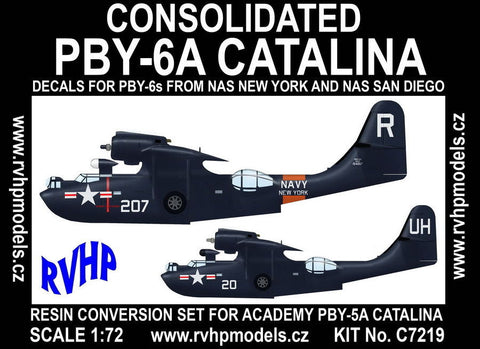 RVHP Models 1/72 PBY-6A Catalina conversion for Academy - C7219