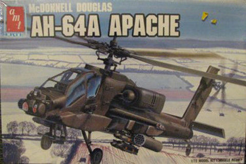 AMT ERTL Model Kit 1/72 AH-64A Apache - #8851 - from collection