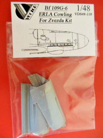 Vector 1/48 resin VDS48-110 Bf 109G-6 Erla cowlings for Zvezda kit