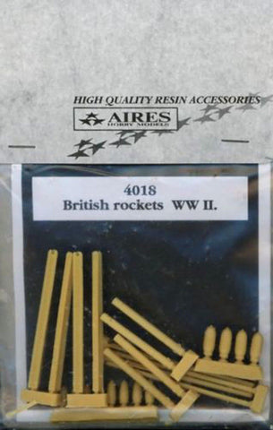 Aires 1/48 Resin + PE British Rockets WWII - 4018