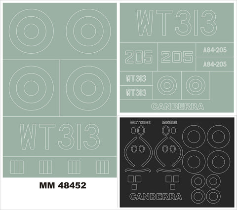 Montex 1/48 masks & insignias for BAC/EE Canberra B.2/B.20 for Airfix - MM48452