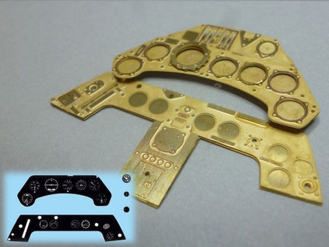Airscale 1/24 pohotoetch & instrument panel decals for Fw-190 by Airfix- PE24FOC