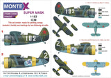 Montex 1/48 masks & markings Polikarpov I-153 for ICM kits - K48347