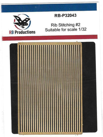 RB Productions 1/32 Photoetched Rib Stitching Strips #2 - RB-P32043