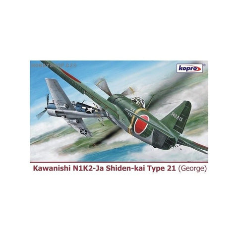 Kopro models kit 1/72 KAWANISHI N1K2-JA SHIDEN-KAI TYPE 21 - #74158 2nd Hand