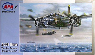 MPM 1/72 Scale A-20G Havoc Russian Torpedo Bomber Version Model kit 72556 NOS