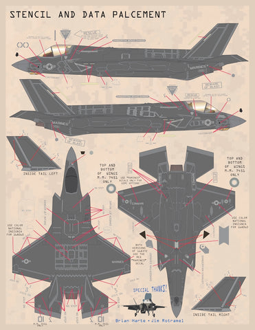 Furball Aero-Design 1//48 decal F-35B Anthology Joint Strike Fighters Pt 3 48069