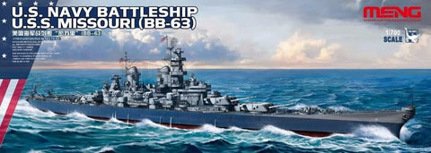 MENG 1/700 Scale US Navy Battleship USS Missouri (BB-63) plastic kit #PS-004