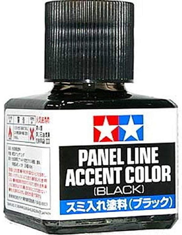 Tamiya Panel Line Accent Color Black 40ml jar for plastic models hobby #87131