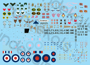 Fundekals 1/144 scale Decals for Vulcan B.Mk.2 aircraft kits - FUN14002