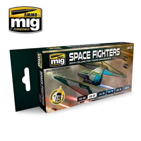 AMMO by MiG Acrylics Set 6 jars 17mL SPACE FIGHTERS SCI-FI COLORS - AMIG7131