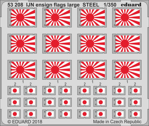 Eduard 1/350 IJN ensign flags large STEEL - 53208 - Photoetch Detail