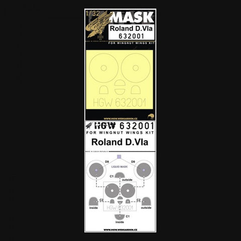 HGW 1/32 masks for Roland DVIa for Wingnut Wings 632001