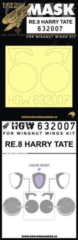 HGW 1/32 masks for RE8 Harry Tate for Wingnut Wings 632007