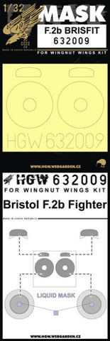 HGW 1/32 masks for Bristol F2b Fighter for Wingnut Wings 632009