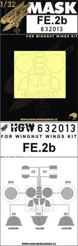 HGW 1/32 masks for FE2b for Wingnut Wings 632013