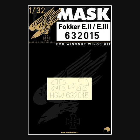 HGW 1/32 masks for Fokker EII/EIII for Wingnut Wings 632015
