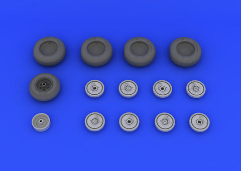 Eduard 1/32 Brassin wheel set for Revell He 219 kit - #632016