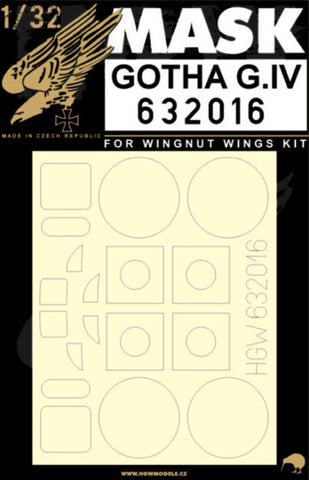 HGW 1/32 masks for Gotha G.IV for Wingnut Wings 632016
