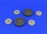 Eduard 1/32 Brassin wheel set for the Revell Bf 109G-6 model kit - #632018