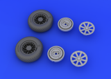 Eduard 1/32 Brassin wheel set for the Tamiya F4U-1 model kit - #632019
