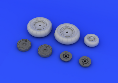 Eduard 1/32 Brassin Bf 109G-10 wheels for Revell - 632040