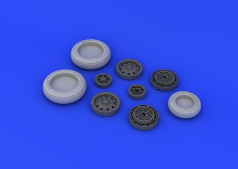 Eduard 1/32 Brassin F-104 undercarriage wheels early for Italeri - 632045