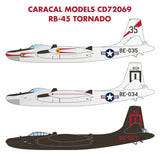 Caracal Models 1/72 CD72069 - decals for the RB-45 Tornado by Valom