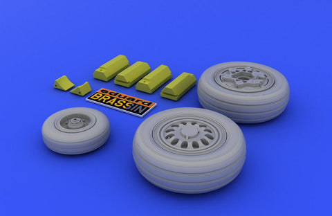 Eduard 1/48 Brassin wheels for the F-16 Falcon Late kit by Tamiya - 648007