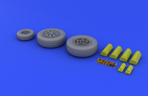 Eduard 1/48 Brassin resin wheels for Hasegawa F-22A kit - 648017